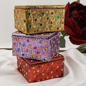 Other - 3 Sparkly Trinket Boxes